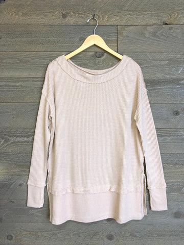 Free People 'North Shore' Thermal In Sand