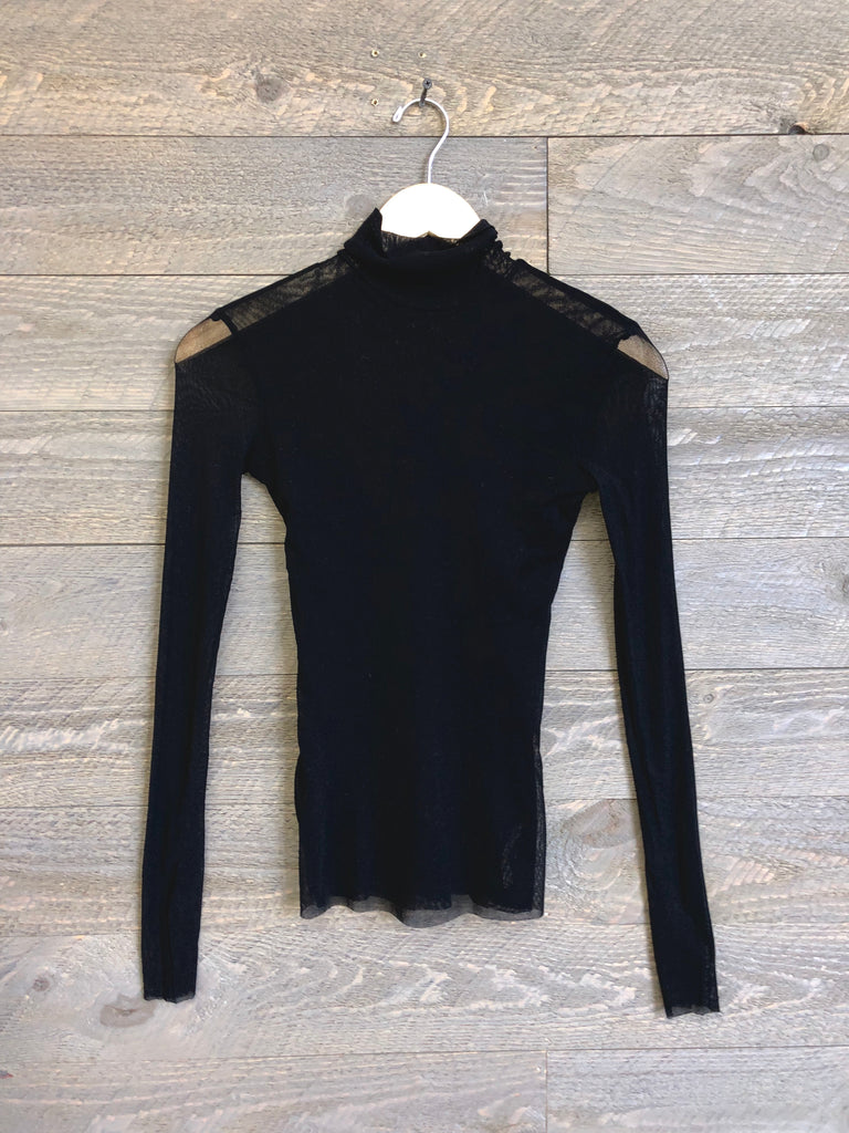 Free People Mesh Turtleneck