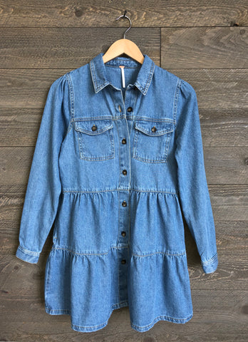 Free People 'Nicole' Denim Shirtdress