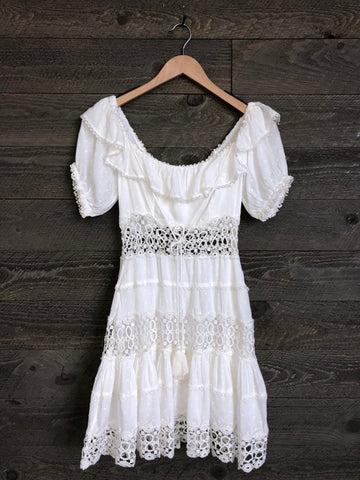 Free People 'Mixed Emotions' Mini Dress In Ivory