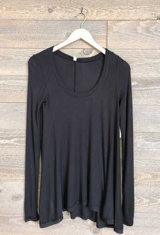 Free People 'January' Tee In Black