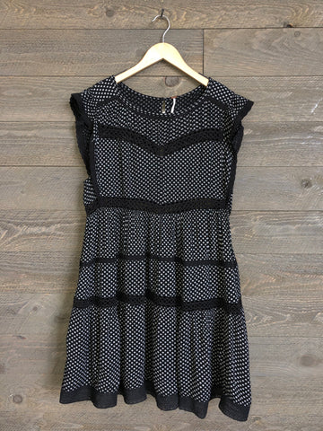 Free People Retro Kitty Dress In Black