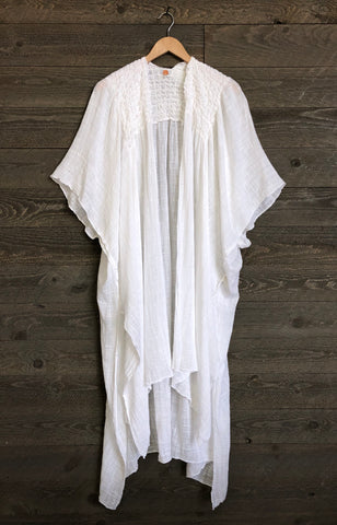 Free People 'Angelica' Kimono In Ivory
