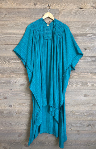 Free People 'Angelica' Kimono In Teal