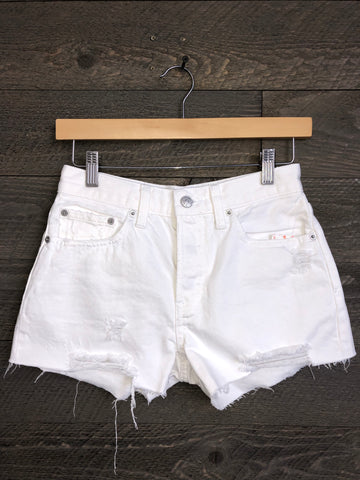 Free People 'Sofia' Shorts In White Out
