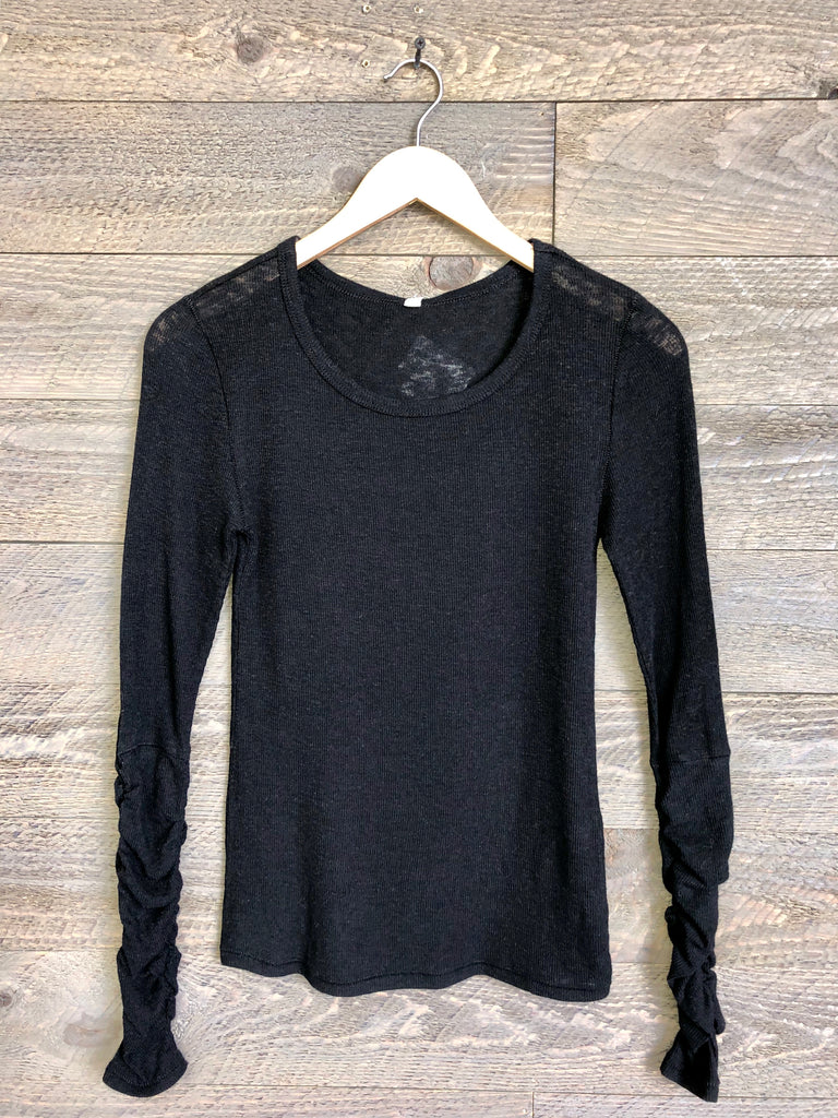 Free People 'Boundary' Top In Black