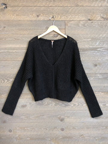 Free People 'Moonbeam' Sweater In Black