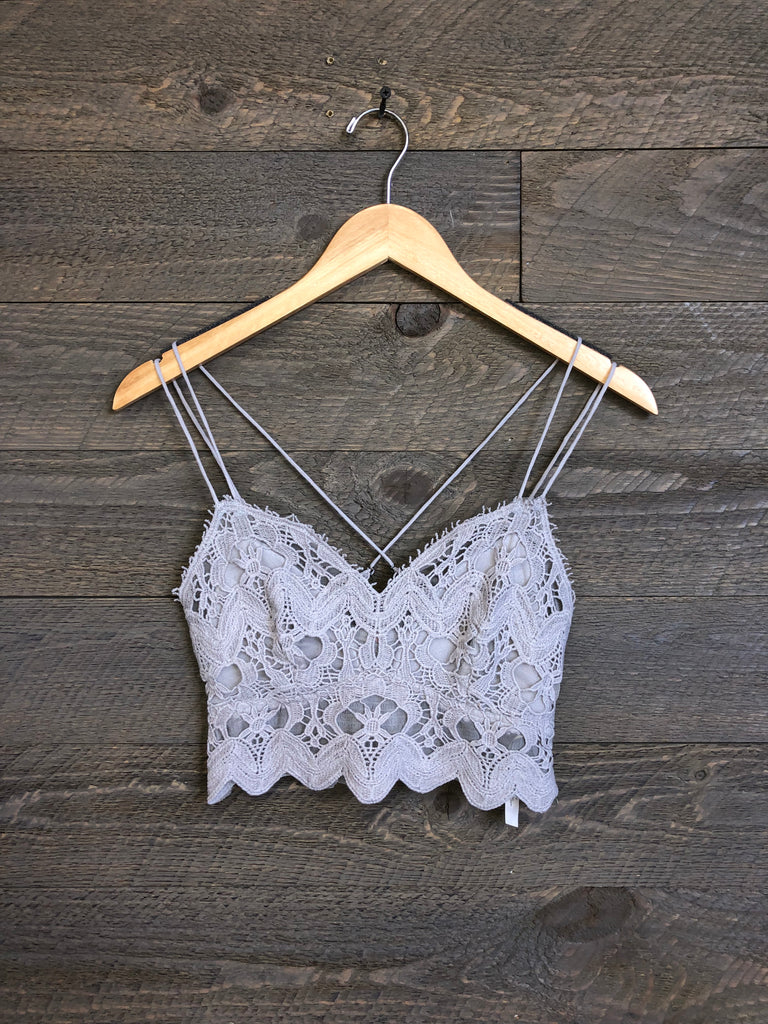 Free People 'Ilektra' Bralette In Silver