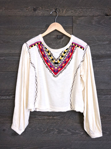 Free People 'Hand Me Down' Top In Ivory combo