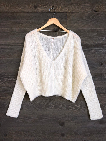 Free People 'Moonbeam' Sweater In Cream