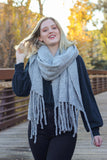 Free People 'Jaden' Blanket Scarf In Grey