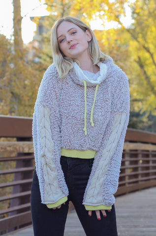 Free People 'Wild Heart' Pullover In Oatmeal Combo