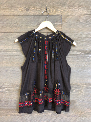 Free People 'Morocco' Tank In Washed Black
