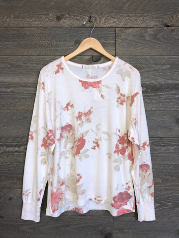 Free People 'Arielle' Long Sleeve In Ivory Combo