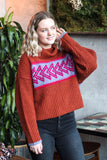 "Free People ""Greater Than"" Sweater In Pele"