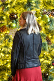Mauritius Adina Leather Jacket With Sherpa
