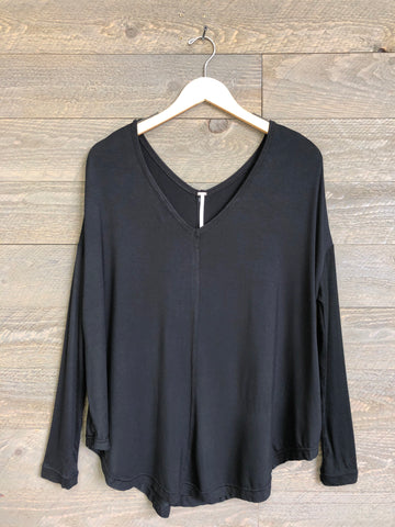 Free People 'Moonshine' Tunic In Black