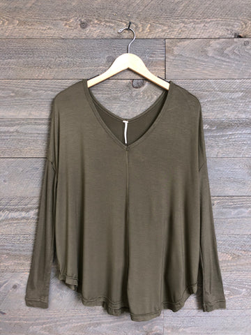 Free People 'Moonshine' Tunic In Army