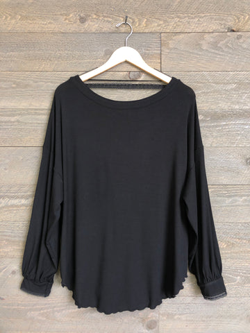 Free People 'Shimmy Shake' Top In Black