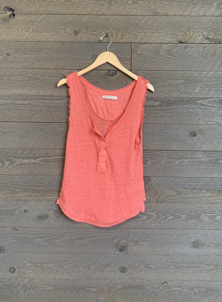 Free People Vacay Tank In Coral