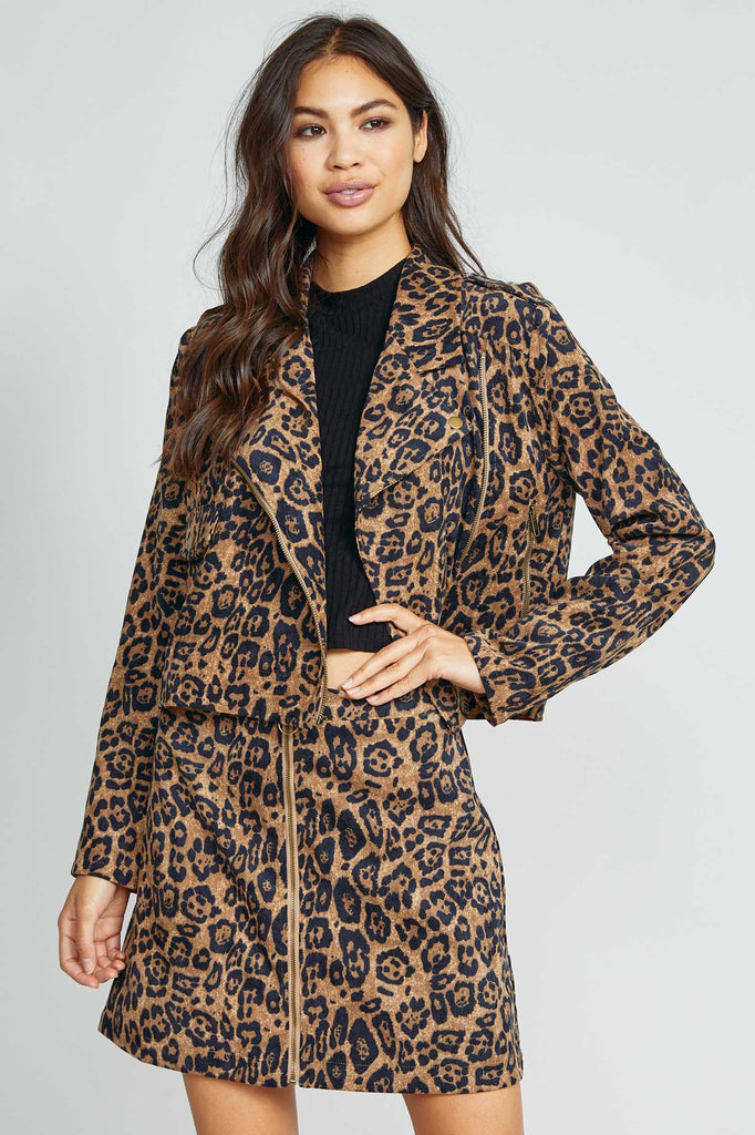 'Into The Wild' Leopard Print Corduroy Jacket