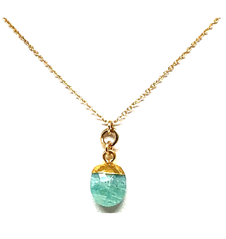 Janus Amazonite Pendant Necklace