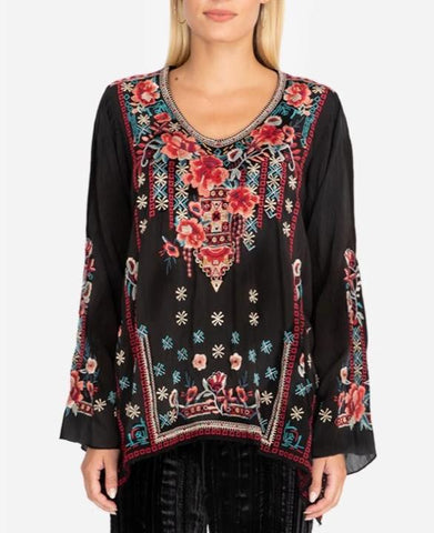 Johnny Was 'Dulci' Tunic Embroidered Top