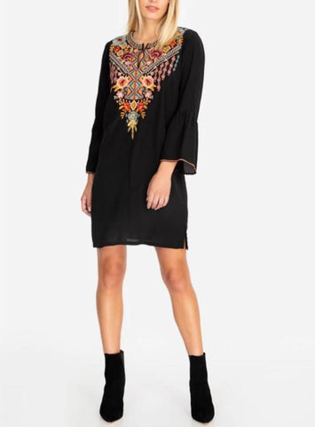 Johnny Was Clancy Flare Sleeve Tunic Dress
