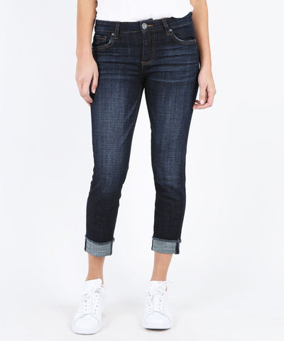Amy Cropped Straight Leg Jeans