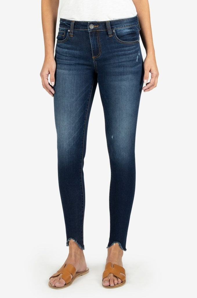 Connie Slim Fit Ankle Jeans In Taste Wash