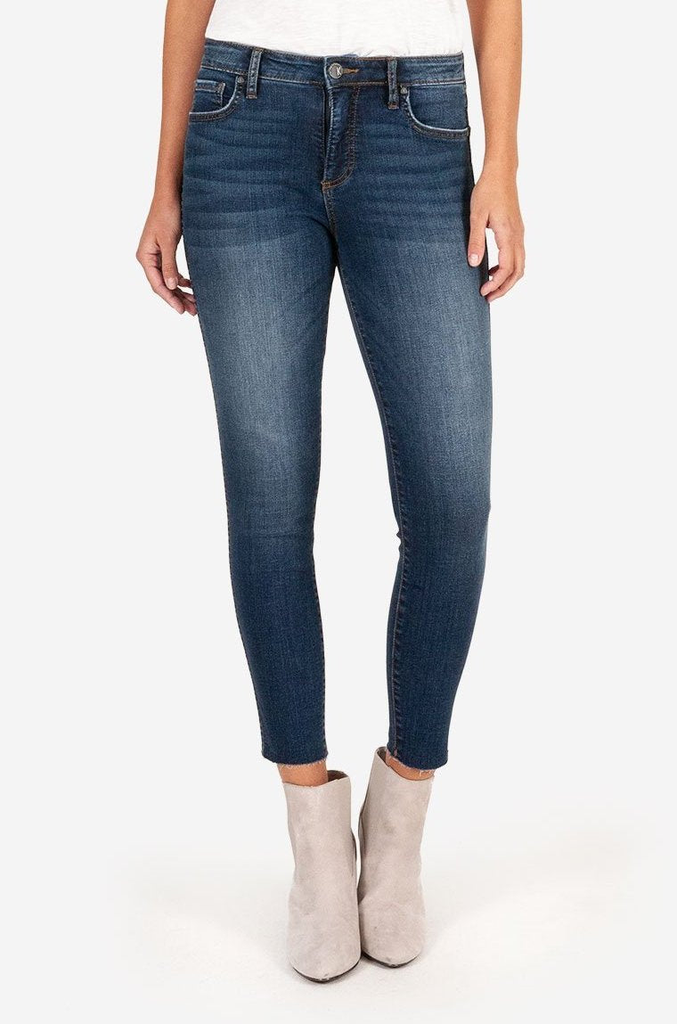 KUT from the Kloth Donna High Rise Ankle Skinny Jeans Grand Wash
