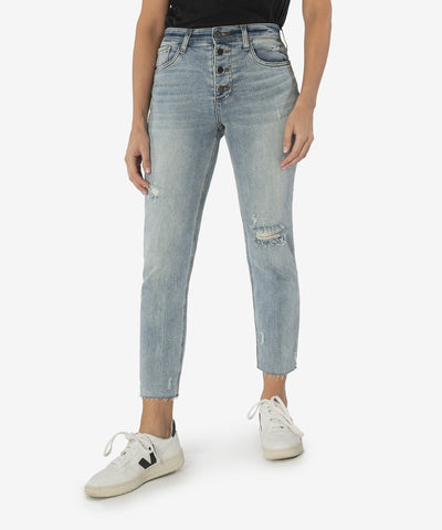 Rachael High Rise Mom Jeans,  Enticing Wash