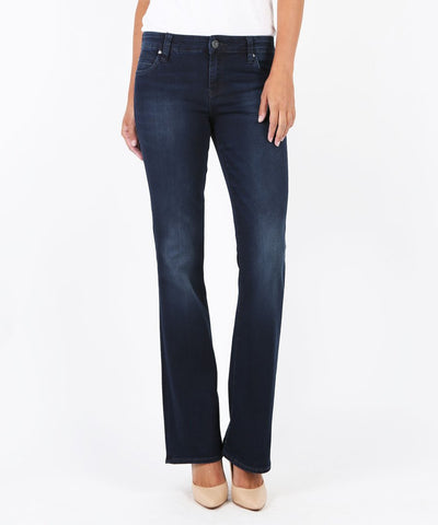 Natalie Mid-Rise Bootcut Jeans in Liberating Wash