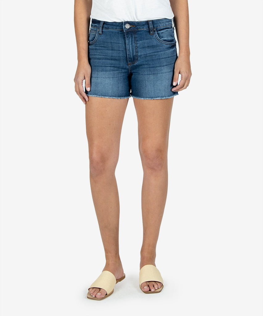 Gidget High Rise Fray Shorts, Affectionate Wash