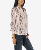 Sam Button Down Blouse, Cream/Rose