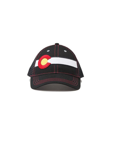 Republic Colorado Flag Trucker Hat In Black