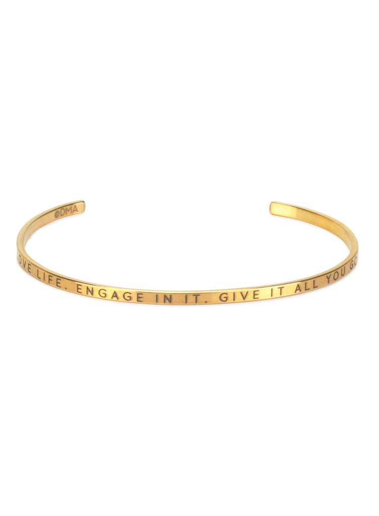 "Dogeared Maya Angelou ""Love Life"" Bracelet"