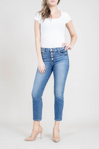 Level 99 Holly Mid-Rise Straight Jeans
