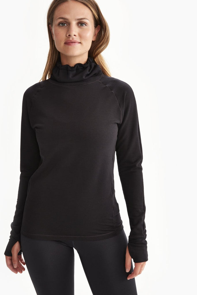 Crescent Snood Top in Black