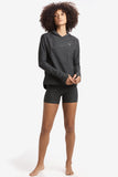 Half Moon Pullover by Lolë, Black Heather