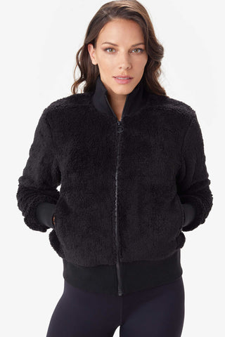 Yana Sherpa Jacket by Lolë, Black