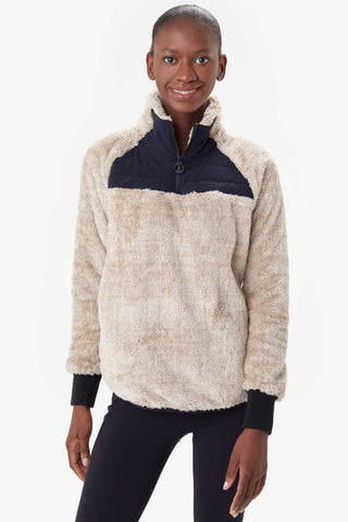Yana Sherpa Pullover by Lolë, Heather Oatmeal