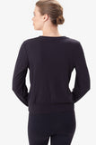 Villeray Long Sleeve Top by Lolë, Black