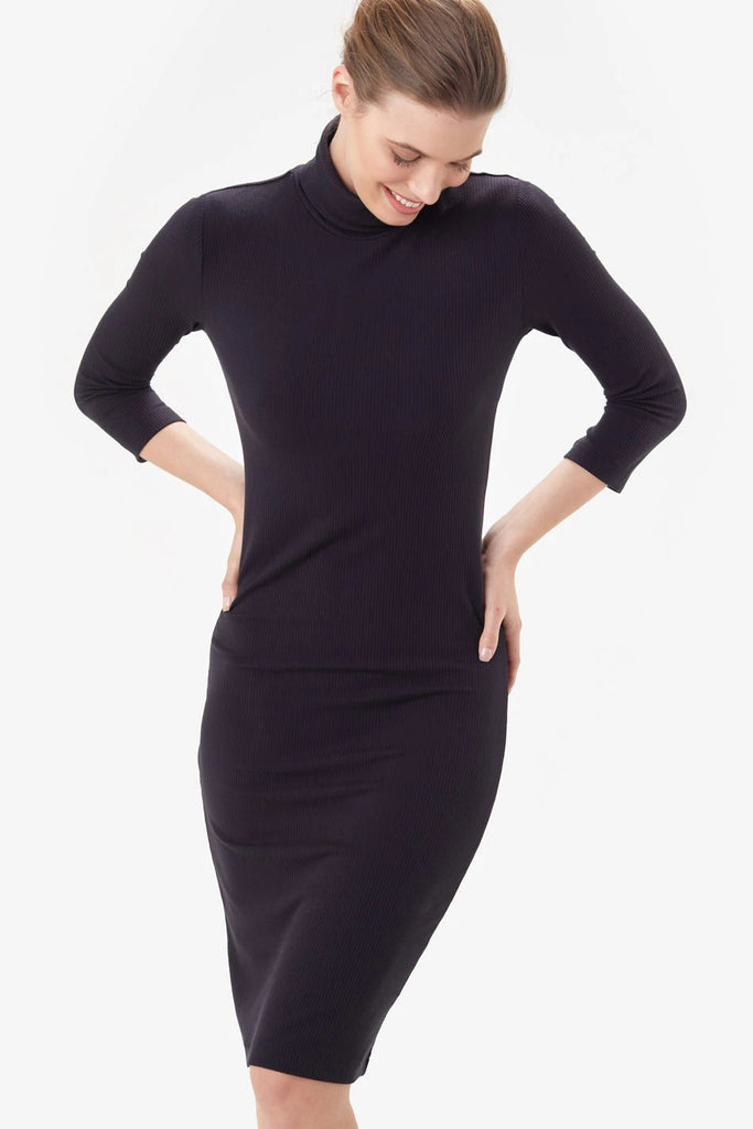 Villeray Turtleneck Dress by Lolë, Black