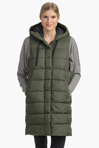 Della Puffy Vest by Lolë, Green