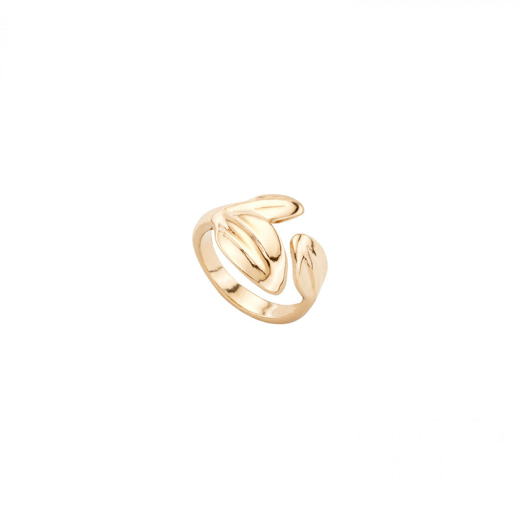 Leaf Me Alone Ring - Gold ring in a leaf shape