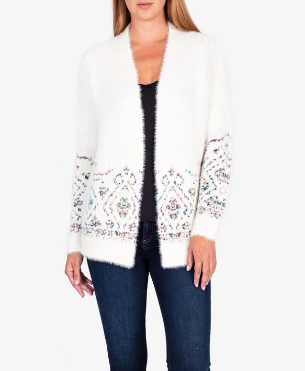 Lennox Cardigan Sweater in Snow