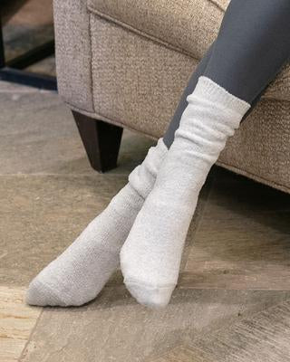 Grace & Lace 'Lush Bamboo Lounge Socks' - Iced Grey
