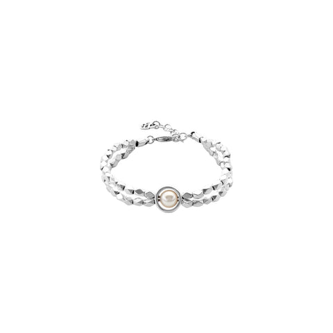 Make A Wish Bracelet in Silver with a pearl center