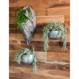 Set of 2 Metal Wall Planters